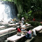 Restaurant in the waterfalls at Villa Escudero, Philippines