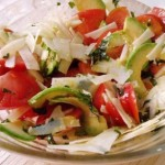 Recipe: Avocado salad, baked tomatoes and cheese