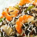 Recipe: Wild rice with prawn tails and vegetables to wok