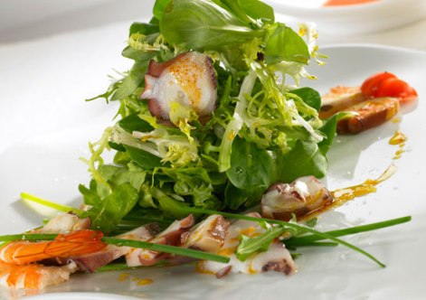 octopus salad with prawns
