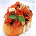 Make Italian bruschetta