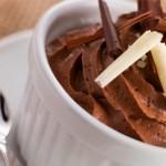 Light Dessert: banana and chocolate mousse