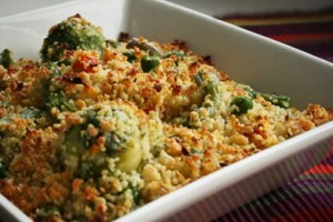 couscous with parmesan and peas