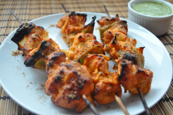 Thai-style chicken skewers