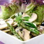 Asparagus and mushroom salad with basil