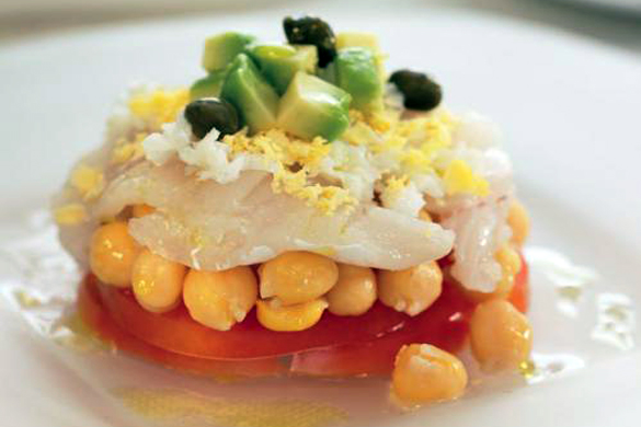 cod salad with chickpeas