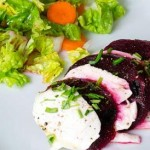 Caprese salad with beets
