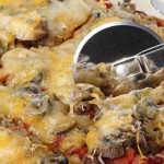 Mushroom Pizza with pesto