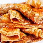 Crepes with caramel