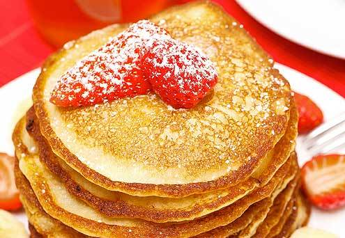 Strawberry and banana Hotcakes