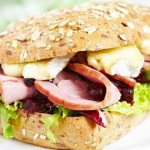Turkey sandwich with cranberry and brie