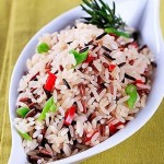 Wild rice with dried fruits and nuts