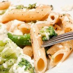 Penne with lemon cream