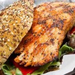 Salmon Burger with Hoisin sauce