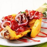 Pork skewers with pineapple