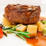 Beef tenderloin in Dijon and Cognac sauce