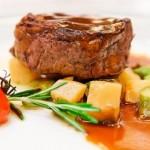 Beef tenderloin in Dijon and Cognac sauce