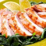 Chicken breast with spinach sauce