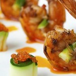 Fish and shrimp brochettes
