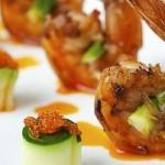 Fish and shrimp brochettes
