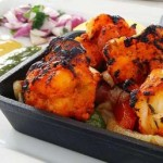 Shrimp baked with spices