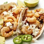 Shrimp tacos with chipotle