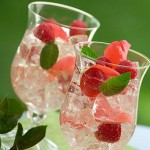 Raspberry sangria and serrano chile