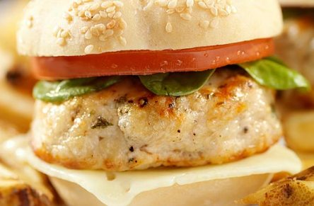 Turkey Burgers and feta cheese