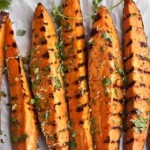 Roasted Sweet Potato with coriander and lemon
