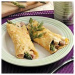 Chicken with Asparagus Crepes