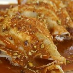Goat cheese and caramel crepes