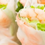 Shrimp Spring Rolls with mango