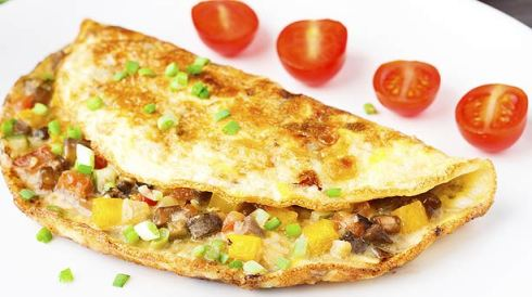 Vegetable Omelet with Avocado