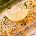 Salmon with mustard and honey