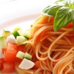 Capellini with tomato and basil