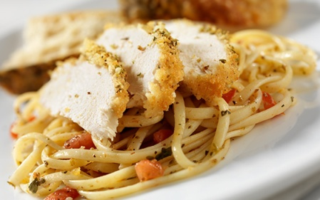 pasta with chicken and corn