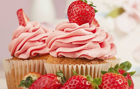 Strawberry cupcakes, enjoy them without guilt!