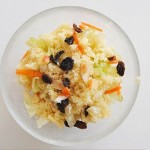 Couscous salad with cabbage and carrot