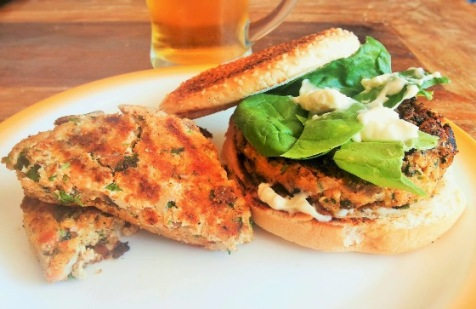 Vegetarian Kitchen: Tofu burger